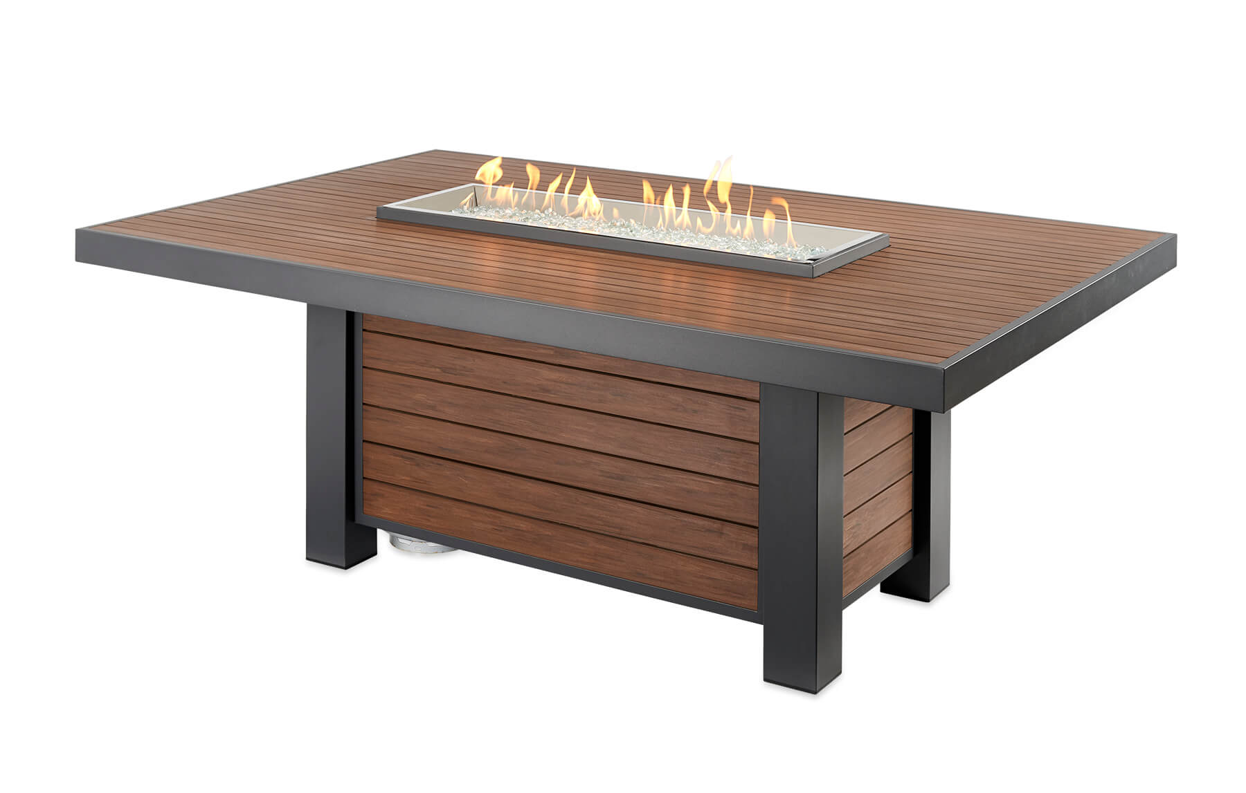 Kenwood Linear Dining Fire Pit Dining Table Cloister