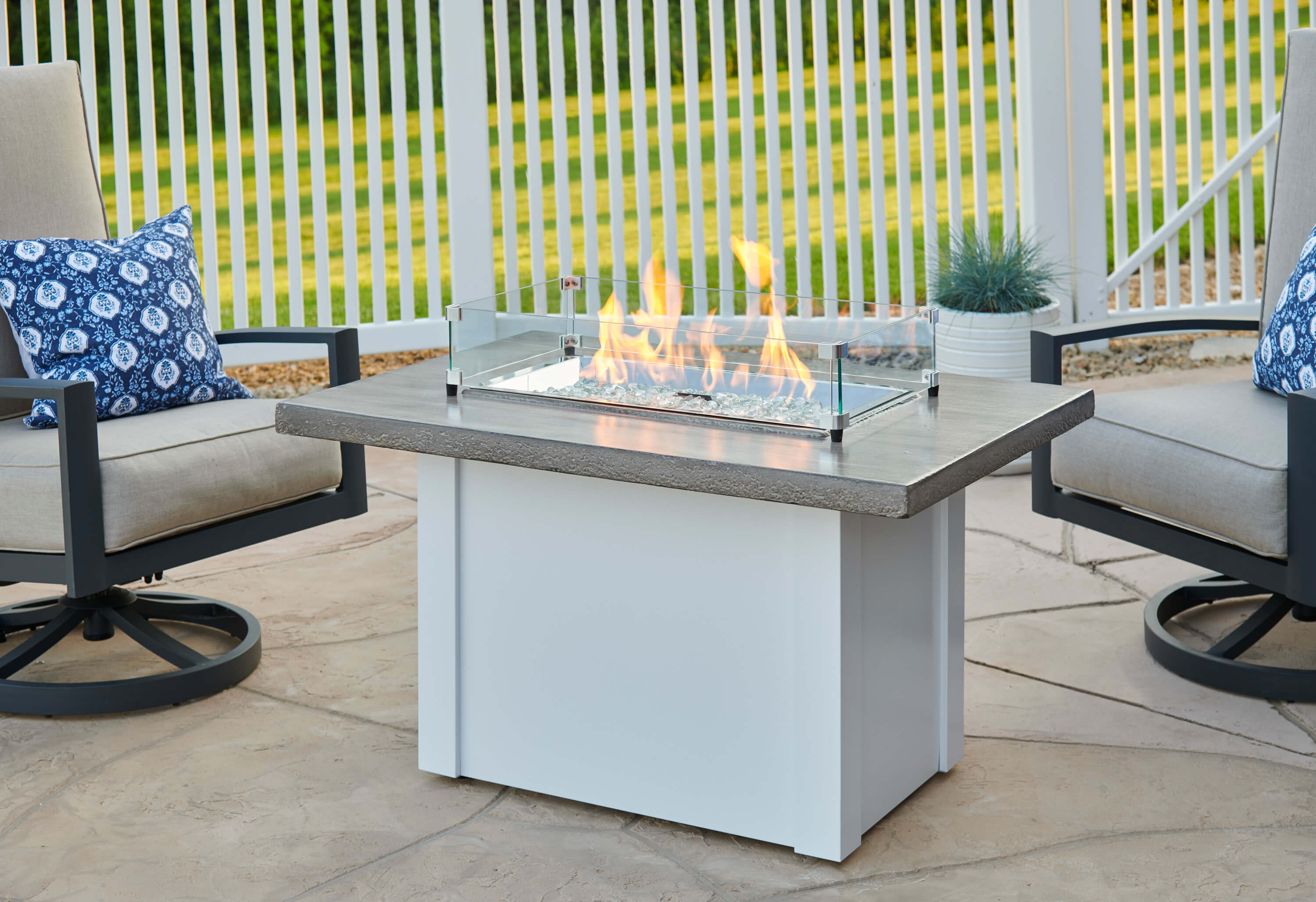 Havenwood Stone Grey Fire Pit Table Cloister Cabinetry