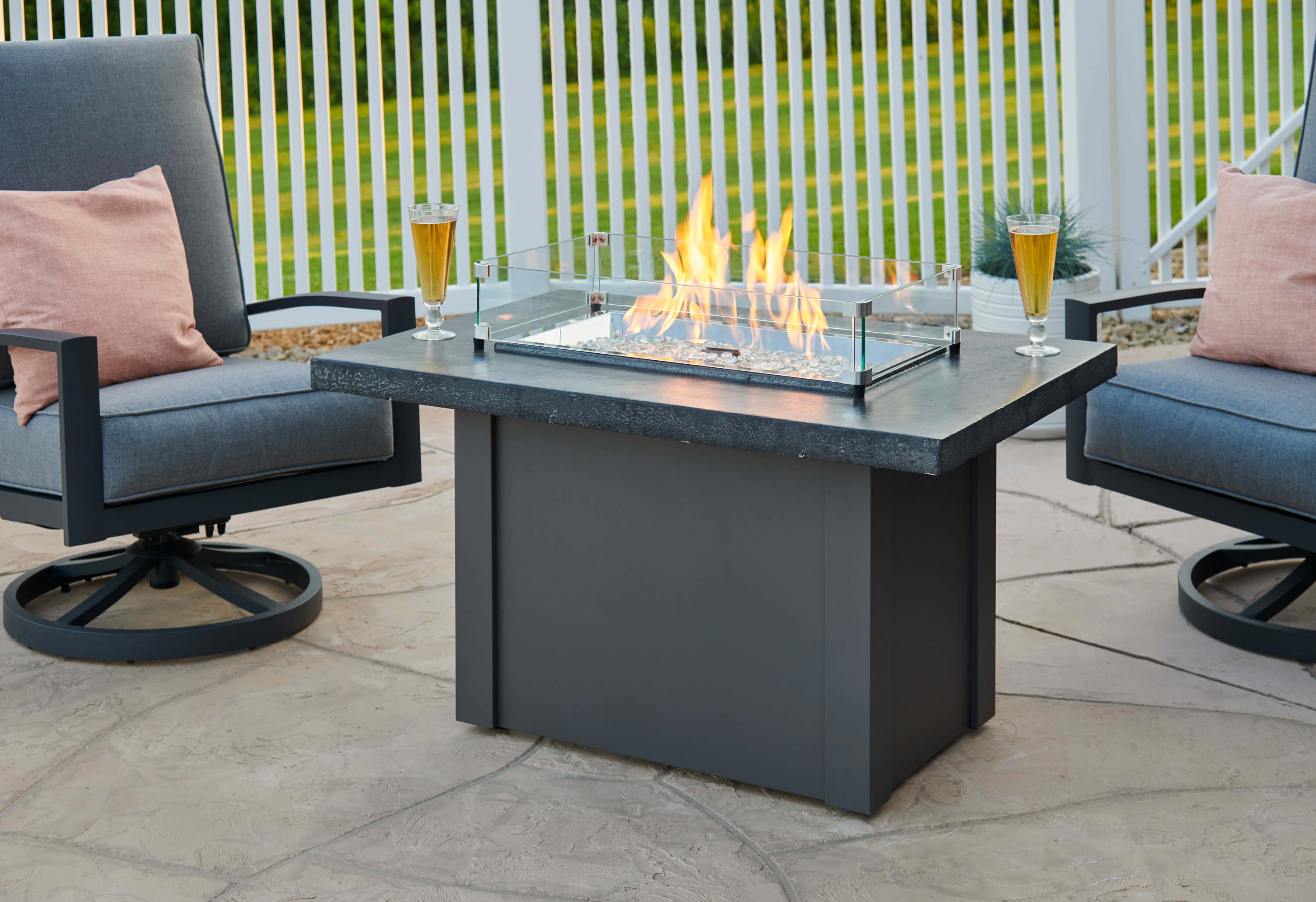 Havenwood Driftwood Fire Pit Table Cloister Cabinetry